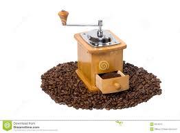 Manual Coffee Grinders Hand Coffee Grinder Full Of Coffee Stock Photo Image 8024310