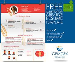 illustrator resume templates creative resume templates illustrator resume templates 2017