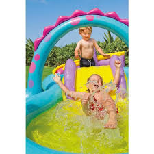 Aire De Jeux Wickey by Intex 57135 Dinoland Play Center Piscine Gonflable Pour Enfants