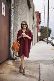 women u0027s burgundy sweater dress grey suede ankle boots tobacco