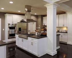 kitchen islands with columns how to beautify a load bearing column in the centre of floor happho