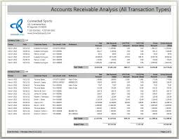 accounts receivable report template accounts receivable aging report exle and accounts receivable