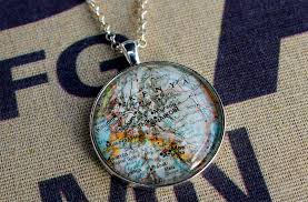 World Map Necklace by Products Charleston Map Jewelry