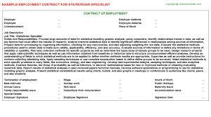 statistician specialist job title docs