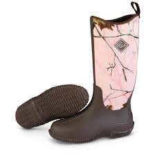 womens camo rubber boots canada muck boot company s hale waterproof boots brown pink