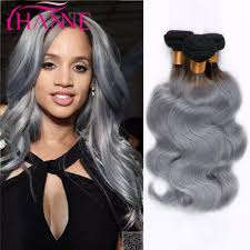 can ypu safely bodywave grey hair ombre ash grey color brazilian body wave human hair bundles 3 4pcs