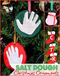 diy christmas craft diy salt dough christmas ornaments diy