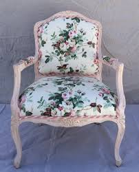 Shabby Chic Chair by Vintage Restored Bergere Chair In Rose Chintz Pink Shabby Chic