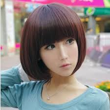 wigs short hairstyles round face wig girls short hair bobo wig qi liu students fat round face bob