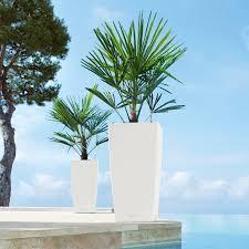 square lechuza cubico self watering resin planter walmart com