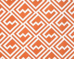 Geometric Orange Curtains Geometric Curtains Etsy