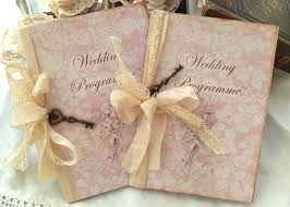 vintage wedding programs wedding program vintage style custom on luulla