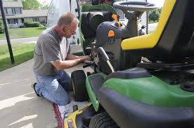 new mower repair service takes the shop on the road local news
