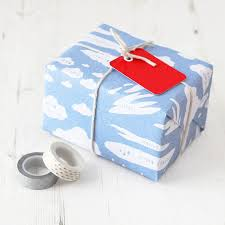 cloud types educational gift wrap set by newton and the apple