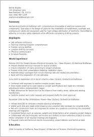 Sle Resume Electrical Worker drafting resume resume sle