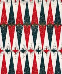 modern christmas wrapping paper vintage gift wrapping paper mod christmas trees and wave stripes