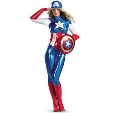 Avengers Halloween Costumes Avengers Captain America Women Bodysuit Superhero