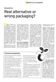 bioplastic research paper crop baling cordexagri bioplastics real alternative or wrong