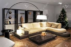 Big Living Room Contemporary Living Room With Big Sitting Area Stock Photo Picture