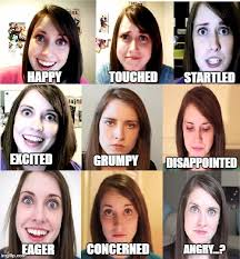 Disappointed Stick Man Imgflip - emotions chart for any overly attached girlfriend you potentially