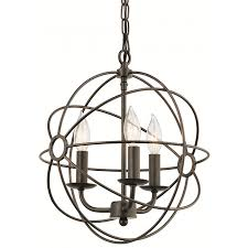kichler pendant lights lowes shop kichler vivian 13 in coffee with copper accents single crystal