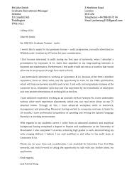 Cover Letter Template For Internship by Letter Examples Intern