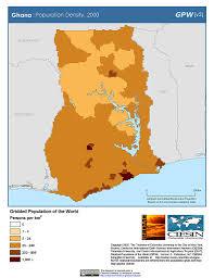 Map Of Ghana Africa by Maps Population Density Grid V3 Sedac