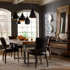 Leather Dining Room Set Mimi Saddle Black Leather Dining Chair Zin Home