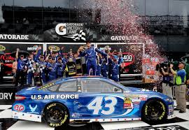 coke code halloween horror nights almirola wins rain shortened coke zero 400 at daytona cbs tampa
