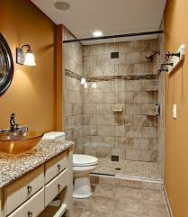 Half Glass Shower Door Wall Mounted Shower Head Silver Grey Tile - Shower backsplash
