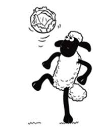 shaun sheep juggling football coloring shaun sheep