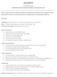 high school resume template for college application high school resumes for college applications