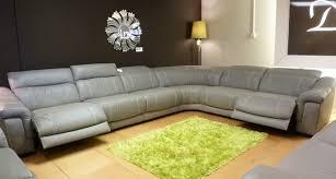 Corner Recliner Leather Sofa Grey Leather Corner Recliner Sofa Ezhandui