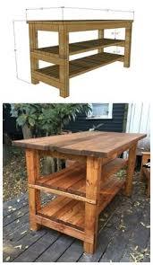 rustic kitchen island table furniture ideas simple carpenter made rectangular open shelving