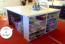 Diy Craft Desk Tables With Storage Attempting To Organize Your Creativity