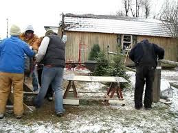 barker tree farm christmas tree baling youtube