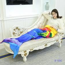 canap molletonn coloré adulte enfants couette sirène queue couverture molleton à