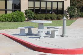 Concrete Table And Benches Tables And Benches Architectural Photo Gallery