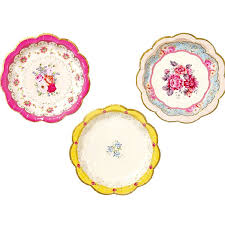 bridal shower plate bridal tea party plates small floral party plate paper