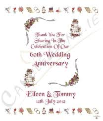 60th Wedding Anniversary Greetings Candlezone Ie Ribbons U0026 Photo Happy 60th Wedding Anniversary