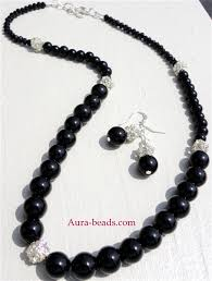 black glass necklace images Necklace www aura JPG