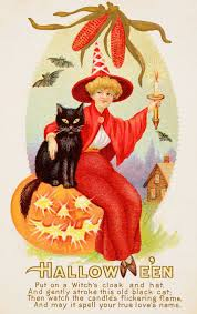 vintage halloween cards from a century ago