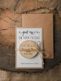 cheap save the date magnets wedding save the date card with wooden magnet wedding ideas