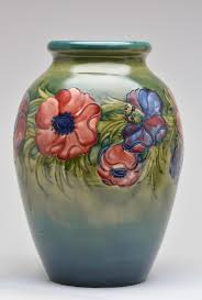 Moorcroft Clematis Vase Moorcroft Made In England Lot 0067moorcroft Made In