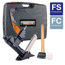Hardwood Floor Gun Freeman 3 In 1 Flooring Air Nailer And Stapler Pfl618br The Home