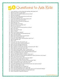 Dinner Party Question Games - some great conversation starters here 50 questions to ask kids