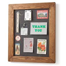 wood framed pinboard noticeboard by horsfall wright
