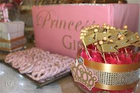 Pink And Gold Dessert Table by Pink Princess Candy U0026 Dessert Buffet Baby Shower