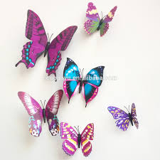 3d butterfly sticker for home wall decoration diy sticker buy 3d butterfly sticker for home wall decoration diy sticker