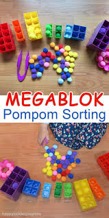 megablok pompom sorting sorting activities activities and motor